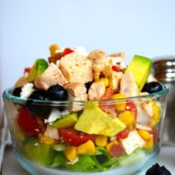 Blueberry Avocado Chopped Salad from Rachel Schultz