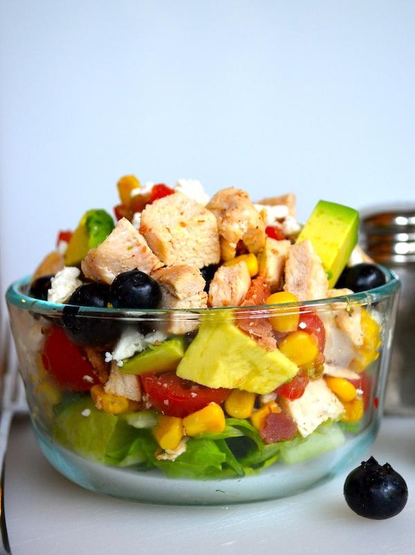 Blueberry Avocado Chopped Salad from Rachel Schultz