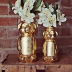 Gold Honey Bear Vase
