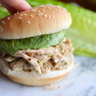SLOW COOKER CHICKEN CAESAR SANDWICHES from Rachel Schultz
