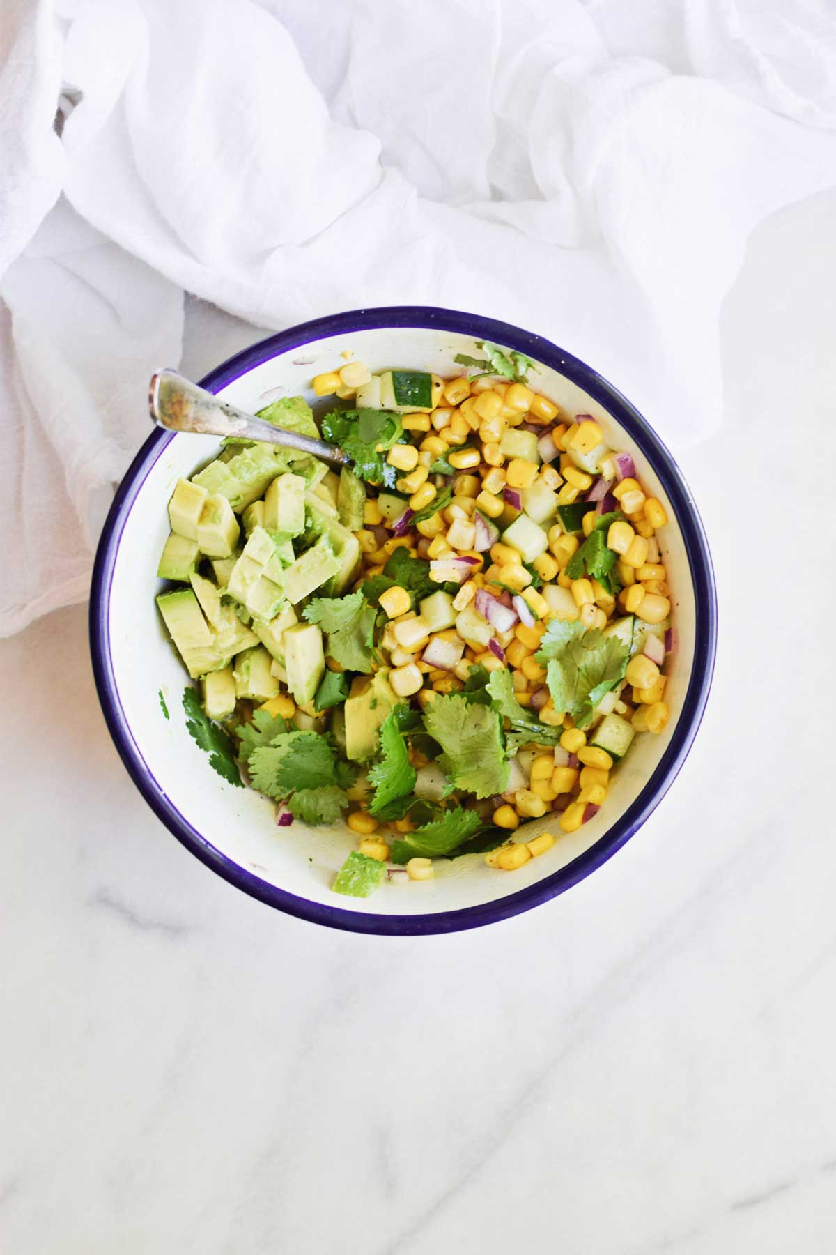 SWEET CORN SALAD WITH AVOCADO