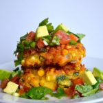 CORN CAKES & AVOCADO SALSA