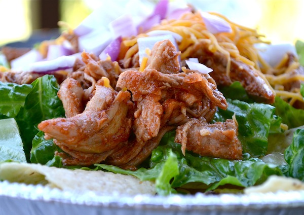 Root Beer Pork Taco Salads from Rachel Schultz