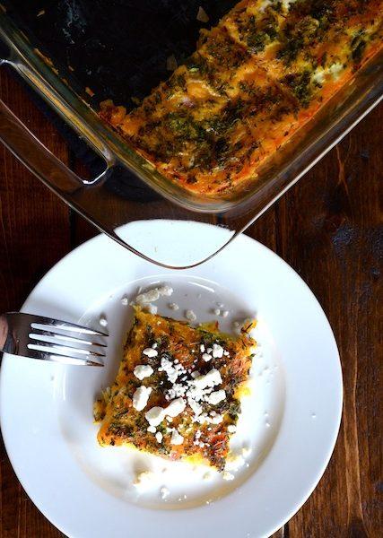 Asparagus & Goat Cheese Egg Bake from Rachel Schultz