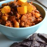BLACK & WHITE CHILI WITH BUTTERNUT SQUASH
