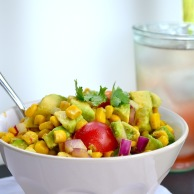 Grilled Corn Salsa with Cilantro Vinaigrette from Rachel Schultz