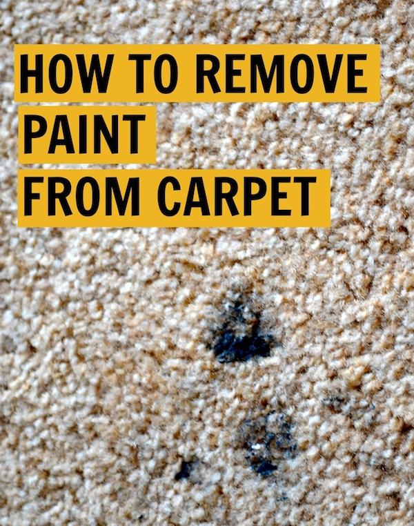 removing carpet stains spots how to remove paint from
