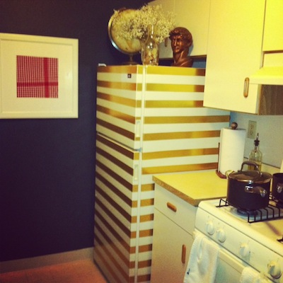 A Gold Fridge from Rachel Schultz