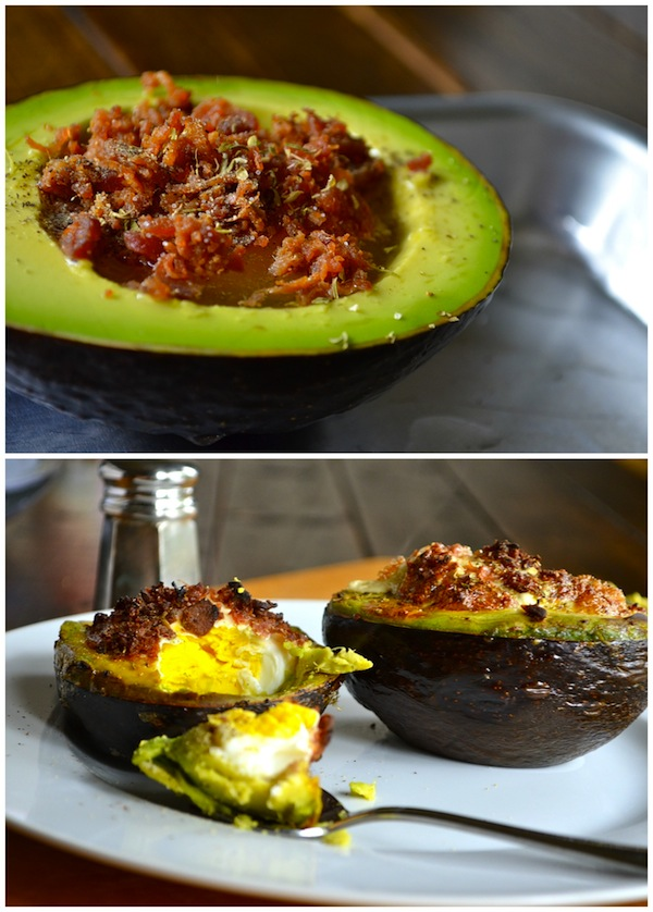 Bacon and Egg Baked Avocados from Rachel Schultz