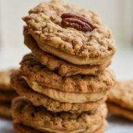 PEANUT BUTTER & PECAN COOKIE SANDWICHES from Rachel Schultz