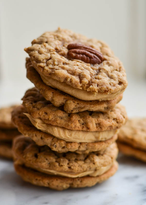 PEANUT BUTTER & PECAN COOKIE SANDWICHES from Rachel Schultz