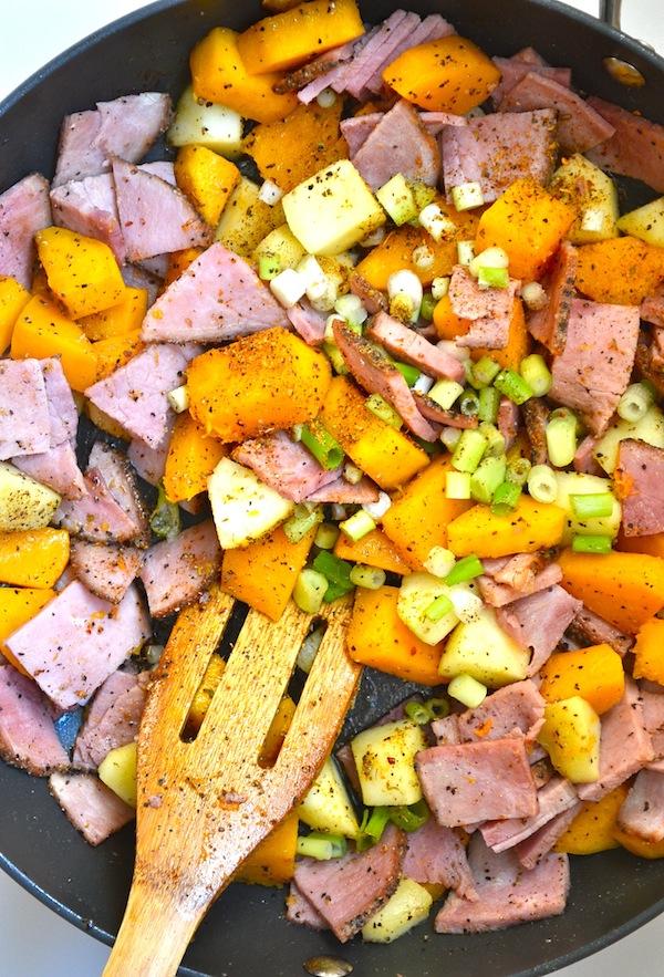 Smoked Ham & Butternut Squash Hash from Rachel Schultz