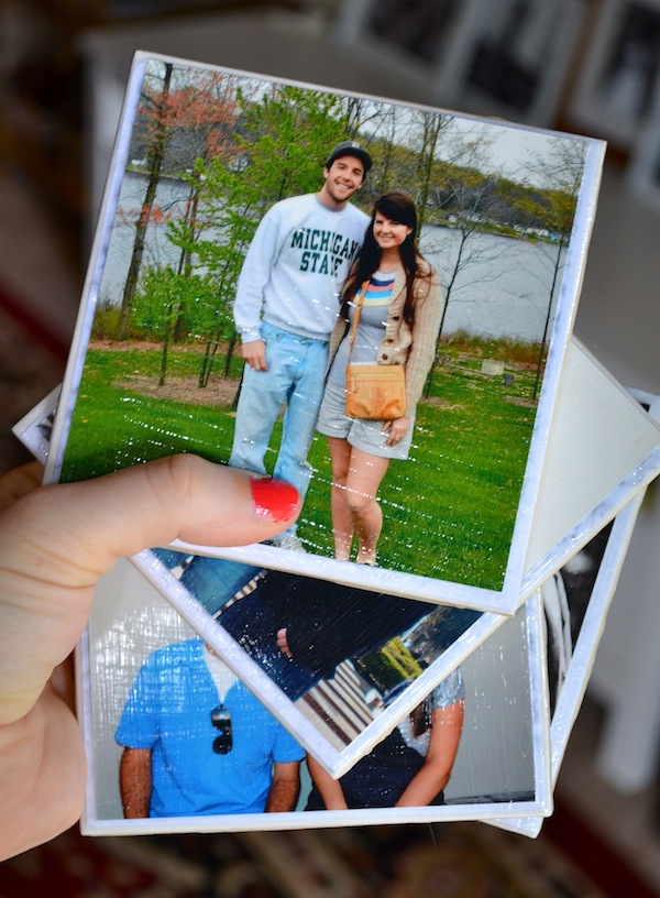 PERSONALIZED PHOTO COASTERS DIY
