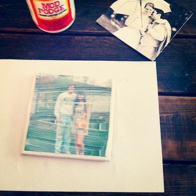 Pesonalized Photo Coasters DIY from Rachel Schultz