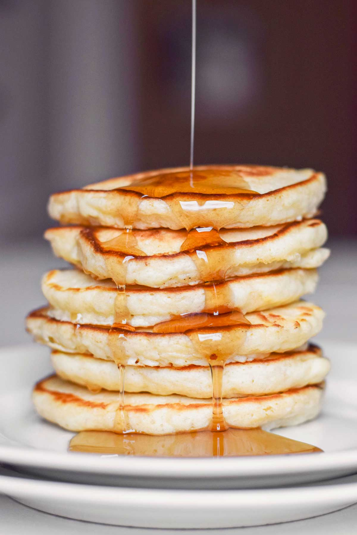 Old Fashioned Pancakes with Syrup