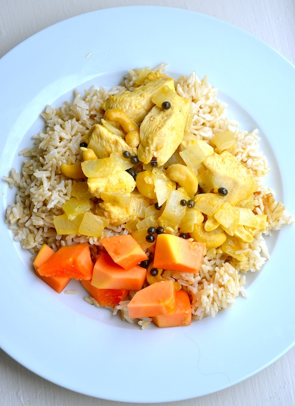 South Indian Papaya Chicken & Rice from Rachel Schultz