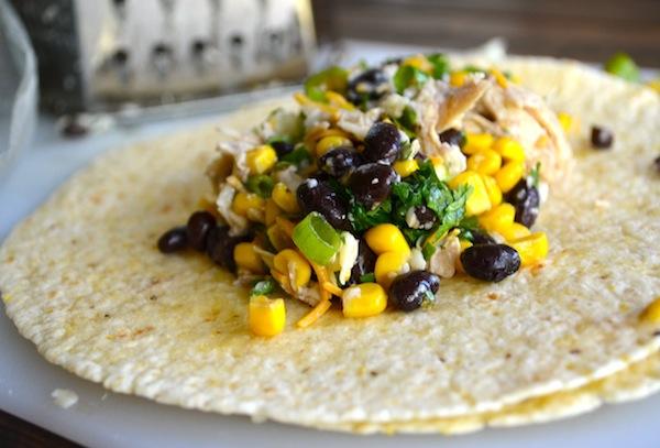 Black Bean & Spinach Chicken Enchiladas from Rachel Schultz