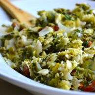 Brussel Sprout & Kale Salad from Rachel Schultz