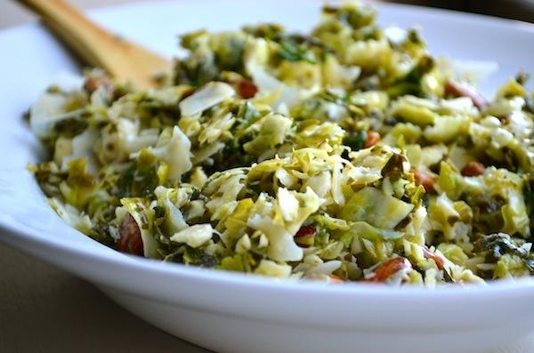 Brussel Sprout & Kale Salad from Rachel Schultz