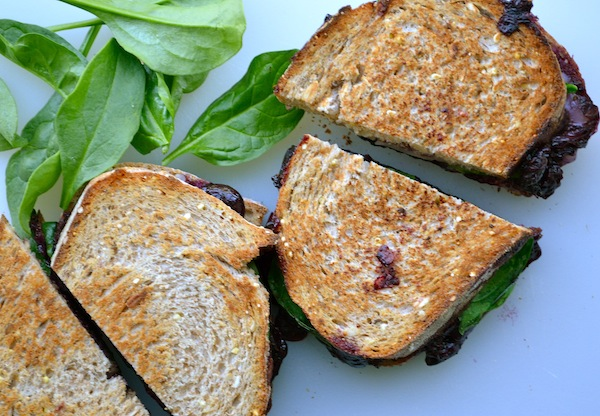 Balsamic Blueberry Grilled Cheese from Rachel Schultz