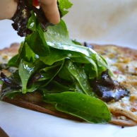Basil and Goat Cheese Flatbread Wrap from Rachel Schultz