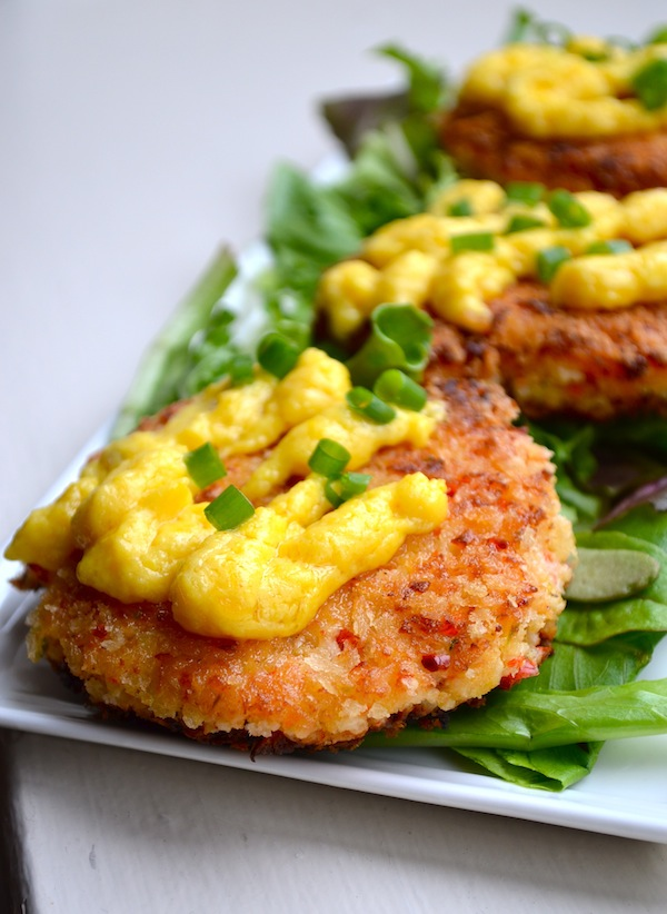 CRAB CAKES WITH CITRUS HOLLANDAISE from Rachel Schultz