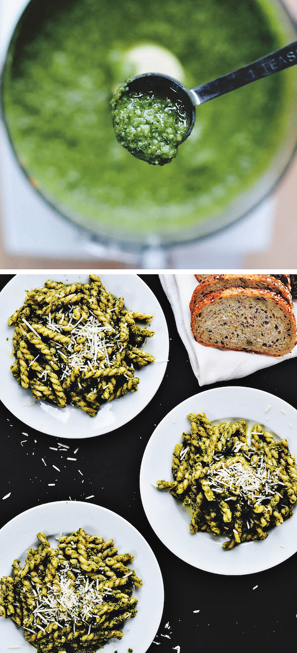 AVOCADO PESTO PASTA from Rachel Schultz