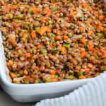 ROASTED LENTILS WITH BELL PEPPERS