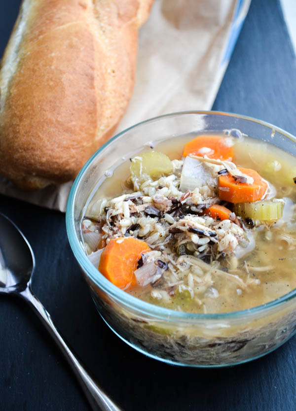 SLOW COOKER CHICKEN & WILD RICE SOUP from Rachel Schultz-3