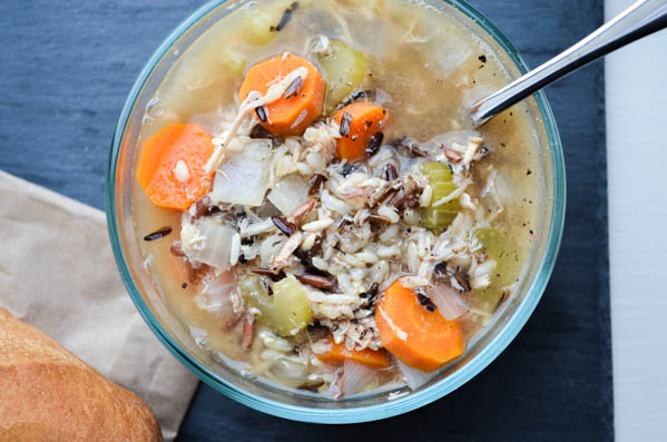 SLOW COOKER CHICKEN & WILD RICE SOUP from Rachel Schultz-4