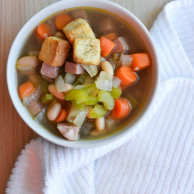 25 MINUTE HAM & WHITE BEAN SOUP from Rachel Schultz