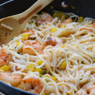 ONE PAN COCONUT SHRIMP & NOODLES from Rachel Schultz-3