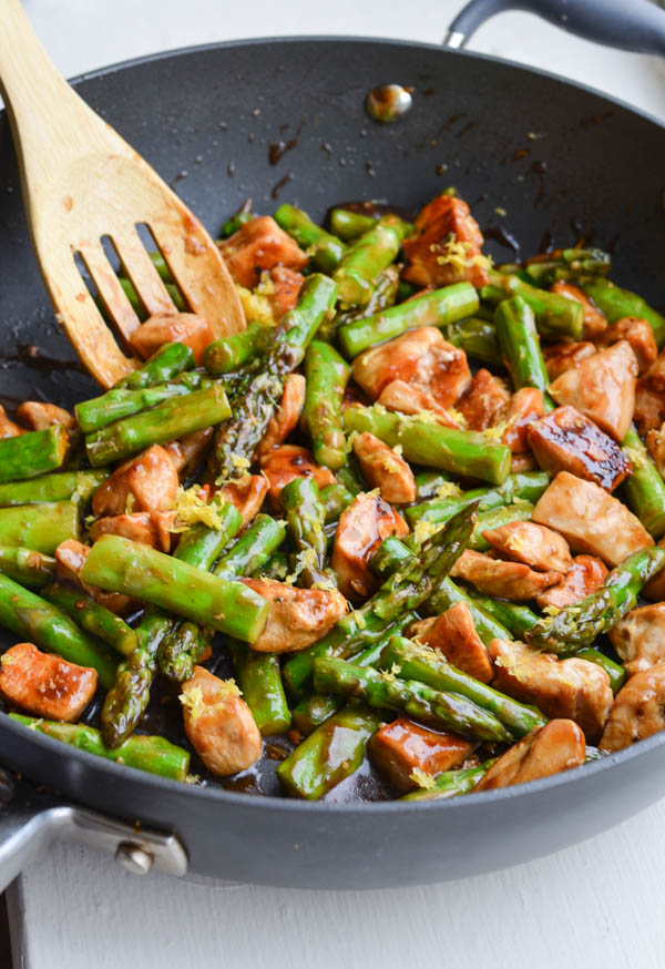 Rachel Schultz Lemony Chicken Stir Fry With Asparagus