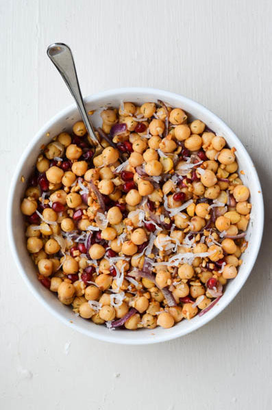 POMEGRANATE & GARBANZO BEAN SALAD from Rachel Schultz-3