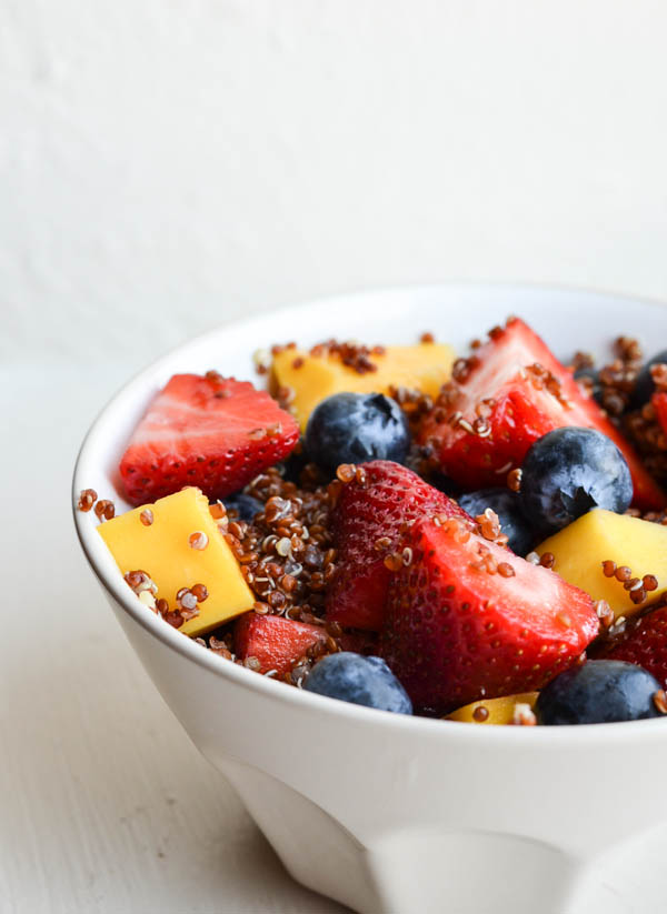 QUINOA FRUIT SALAD WITH HONEY LIME DRESSING from Rachel Schultz-2