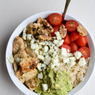 CHICKEN & AVOCADO RICE BOWLS from Rachel Schultz
