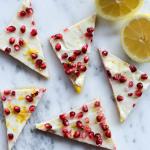 Pomegranate & Lemon Cookie Bars