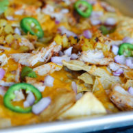 BBQ CHICKEN & PINEAPPLE NACHOS from Rachel Schultz