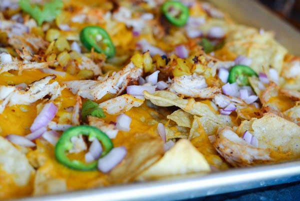 BBQ CHICKEN & PINEAPPLE NACHOS from Rachel Schultz