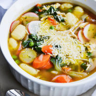 SPRING VEGETABLE & GNOCCHI SOUP from Rachel Schultz 2