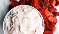 STRAWBERRY FRUIT DIP (TWO INGREDIENTS!)