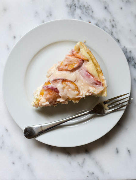 PEACHES & CREAM CHEESECAKE from Rachel Schultz