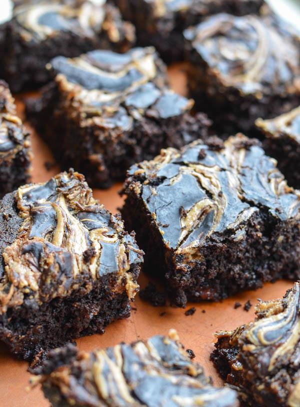 PEANUT BUTTER SWIRL GLUTEN FREE BROWNIES from Rachel Schultz