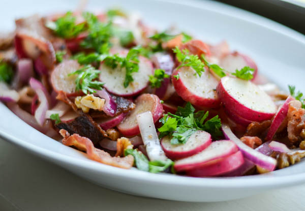 BACON & RADISH SALAD from Rachel Schultz