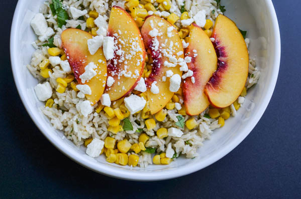 NECTARINE RICE SALAD from Rachel Schultz
