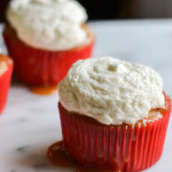 CARAMEL APPLE CUPCAKES from Rachel Schultz