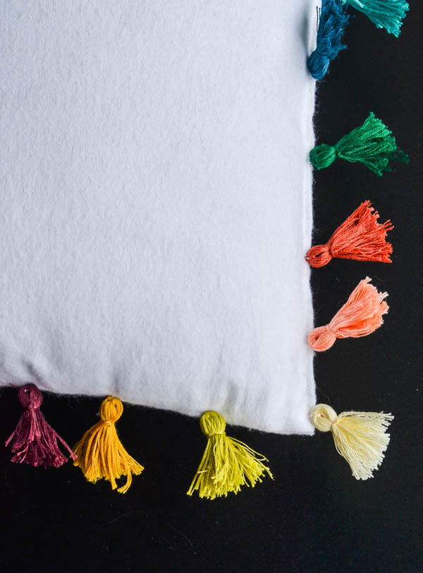 DIY TASSELS AND PILLOW from Rachel Schultz