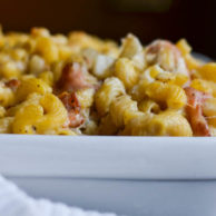BLUE CHEESE, BACON & ROASTED PEAR MACARONI from Rachel Schultz