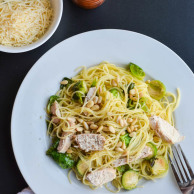 BRUSSELS SPROUT CHICKEN SPAGHETTI from Rachel Schultz-3