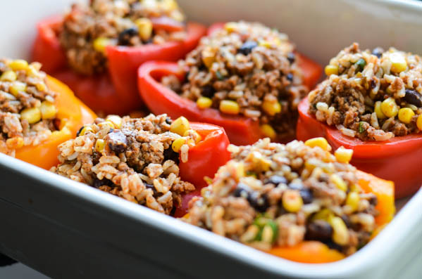 SOUTHWEST STUFFED PEPPERS from Rachel Schultz